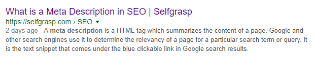 Title Tag in SERPs